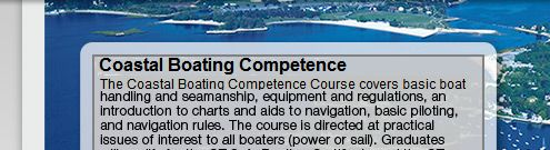 Coastal Boating Competence Course